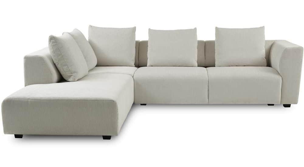 Hjørne og flyder sofa i hvid fra ILVA