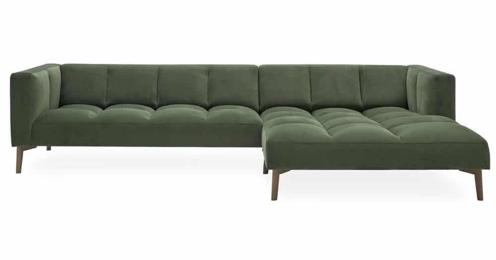 Flyder sofa i velour