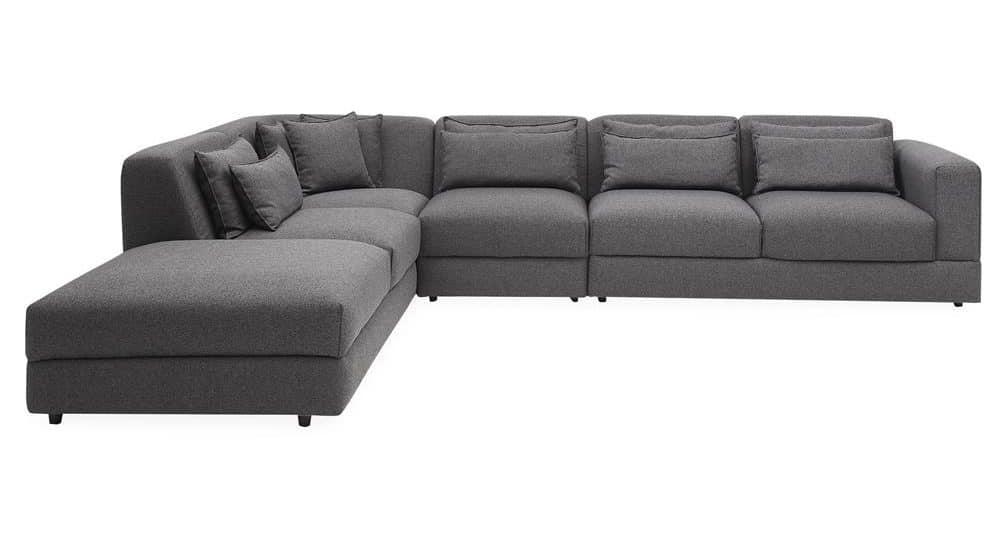 Hjørne flyder sofa fra ILVA i grå