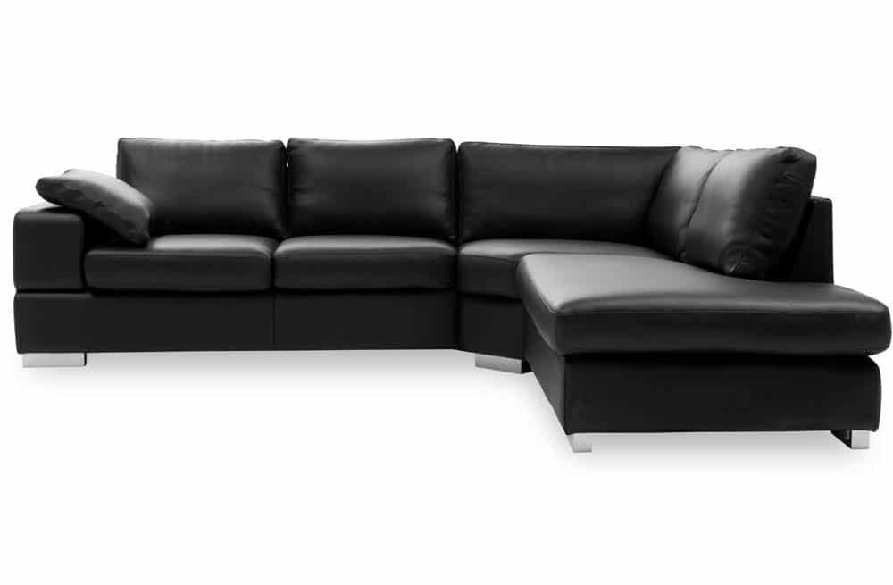 flyder sofa i sort læder