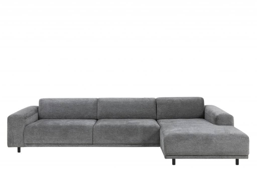 Flyder sofa i grå velour
