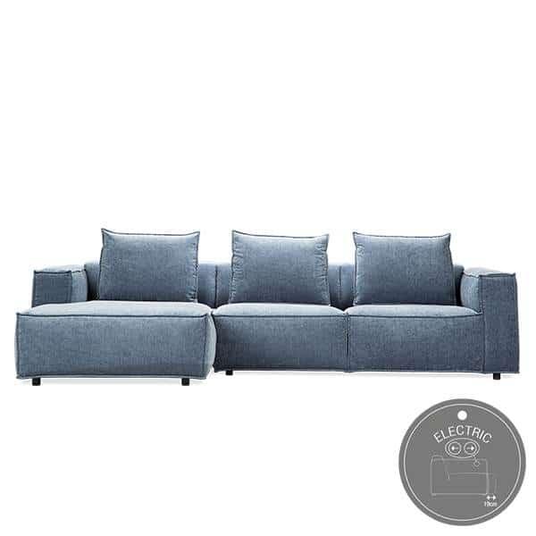 Flyder sofa med elektrisk indstilling af sæder