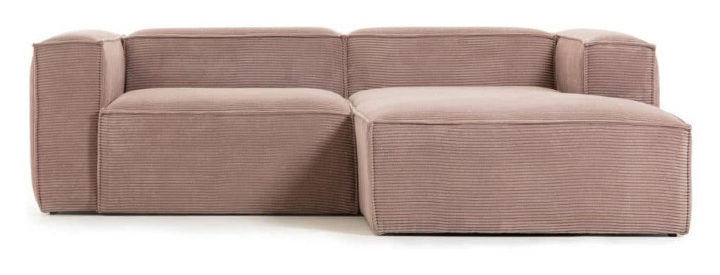Laforma sofa i bredriflet fløjl