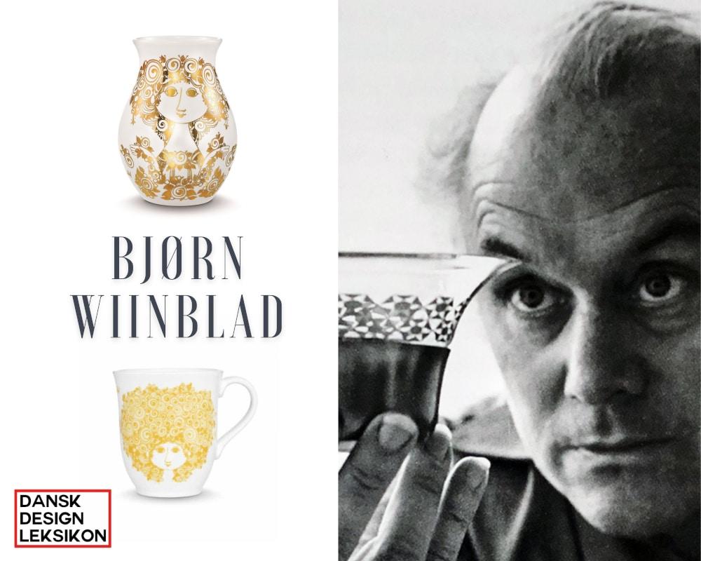 Bjørn Wiinblad vase, krukke, lysestage