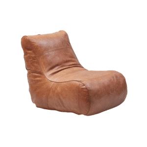 Kilroy Indbo puf Milano brun læder