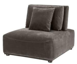 Eichholtz Mondial loungestol - Granite grey