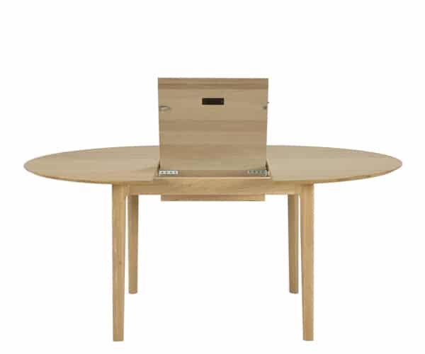 Ethnicraft Oak Bok Rundt Udtræksbord - 129-179cm.